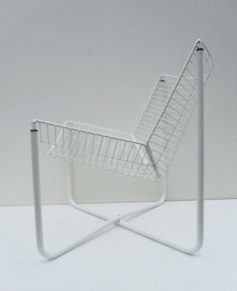 chaise jarpen blanche en m tal par niels gammelgaard pour. Black Bedroom Furniture Sets. Home Design Ideas