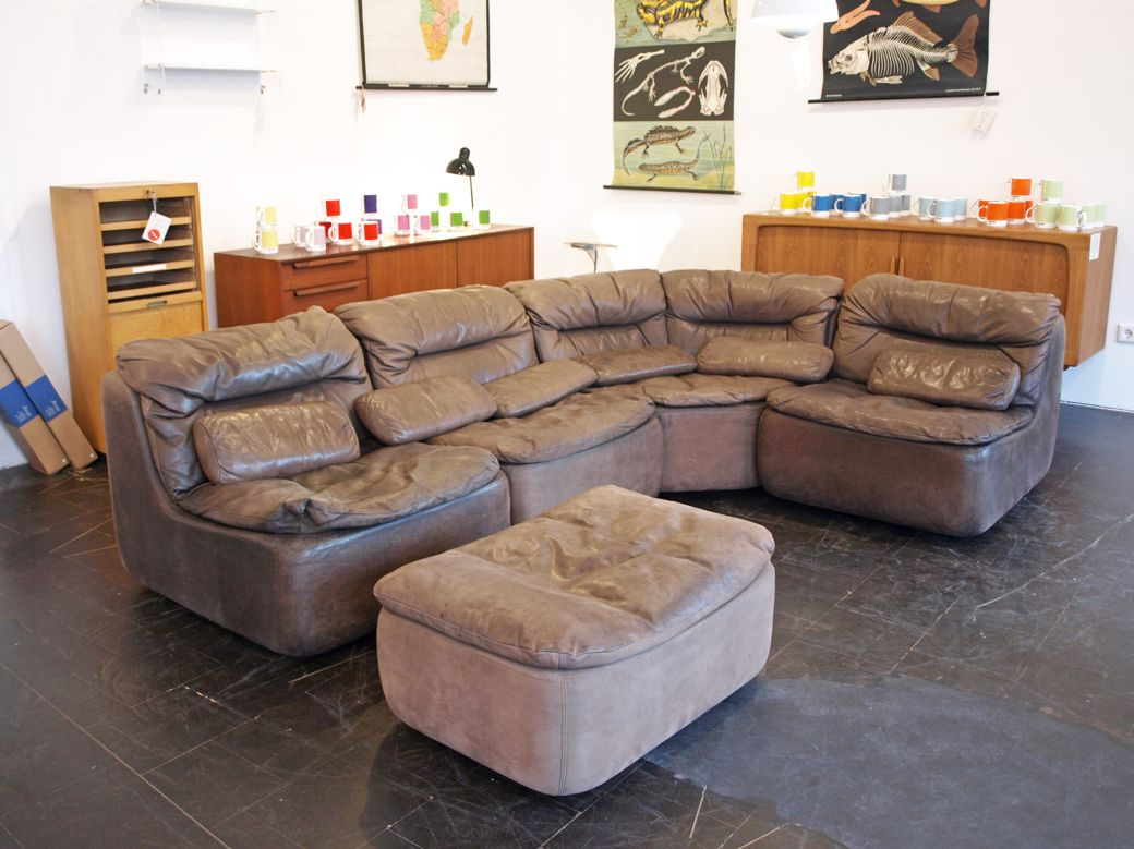 Modulares Sofa Design Circle Walter Knoll | Model 144 Five Piece Modular Leather Sofa By Friedrich Hill For