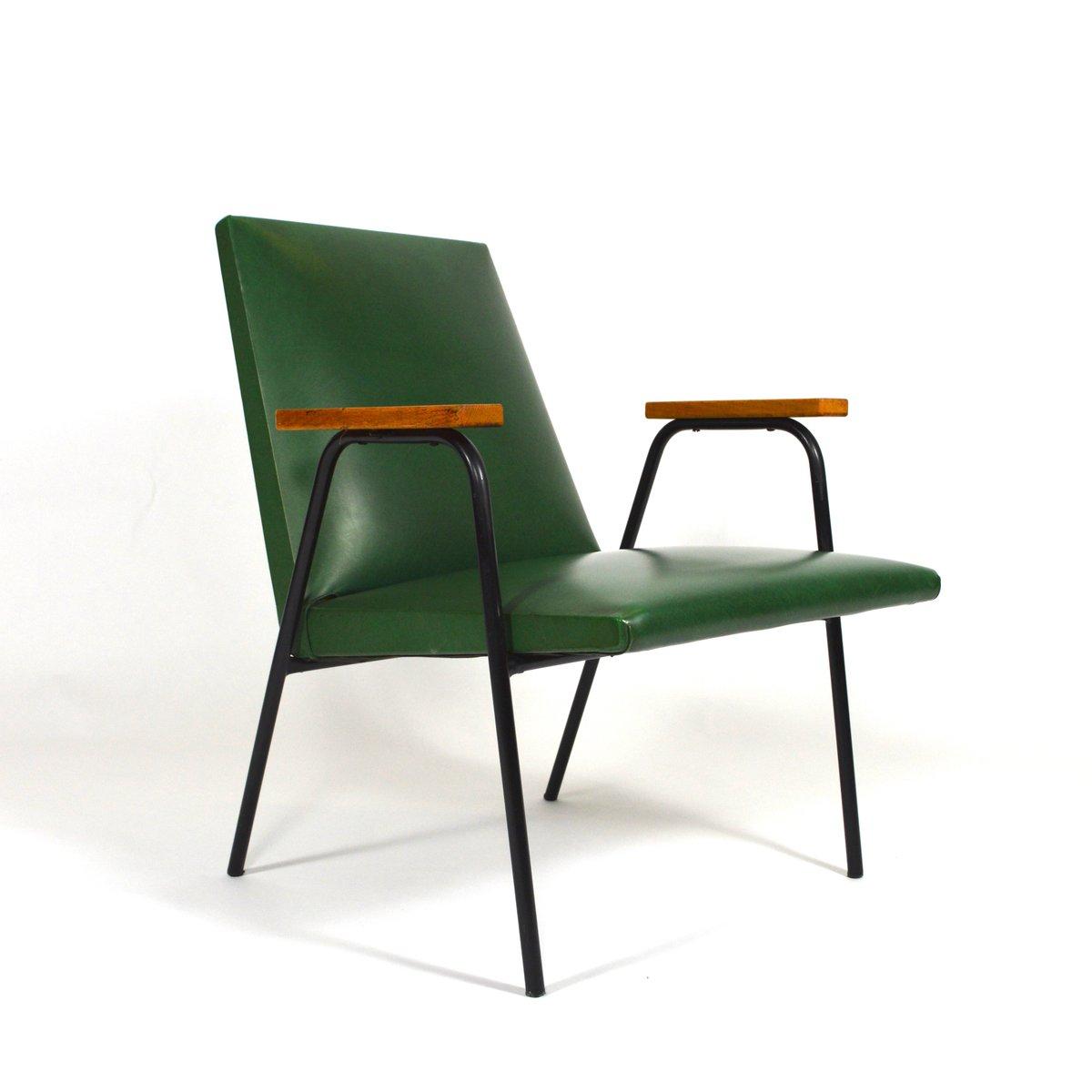 fauteuil en ska vert par pierre guariche 1950s en vente sur pamono. Black Bedroom Furniture Sets. Home Design Ideas