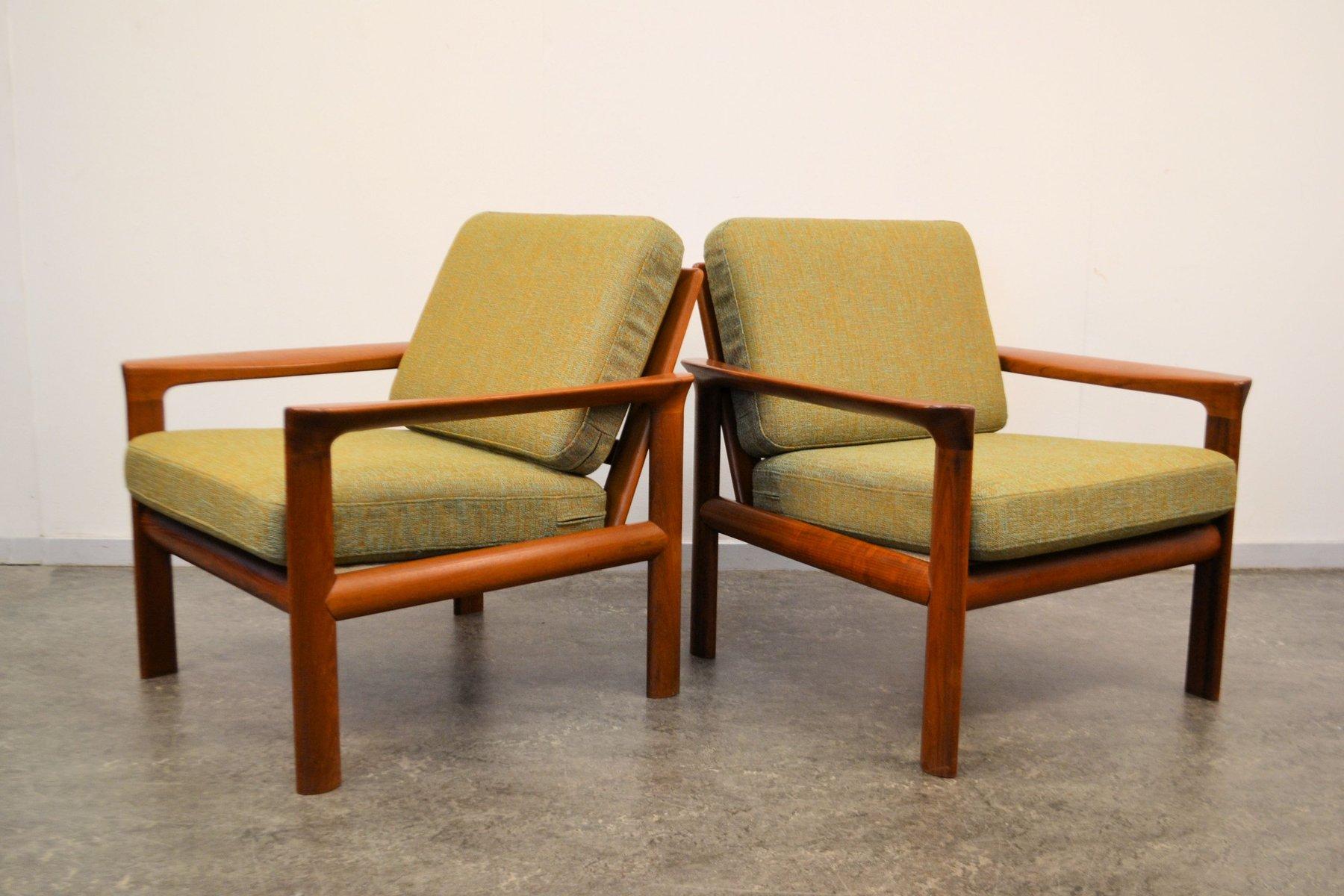 Teak Lounge Chairs By Sven Ellekaer, Set Of 2