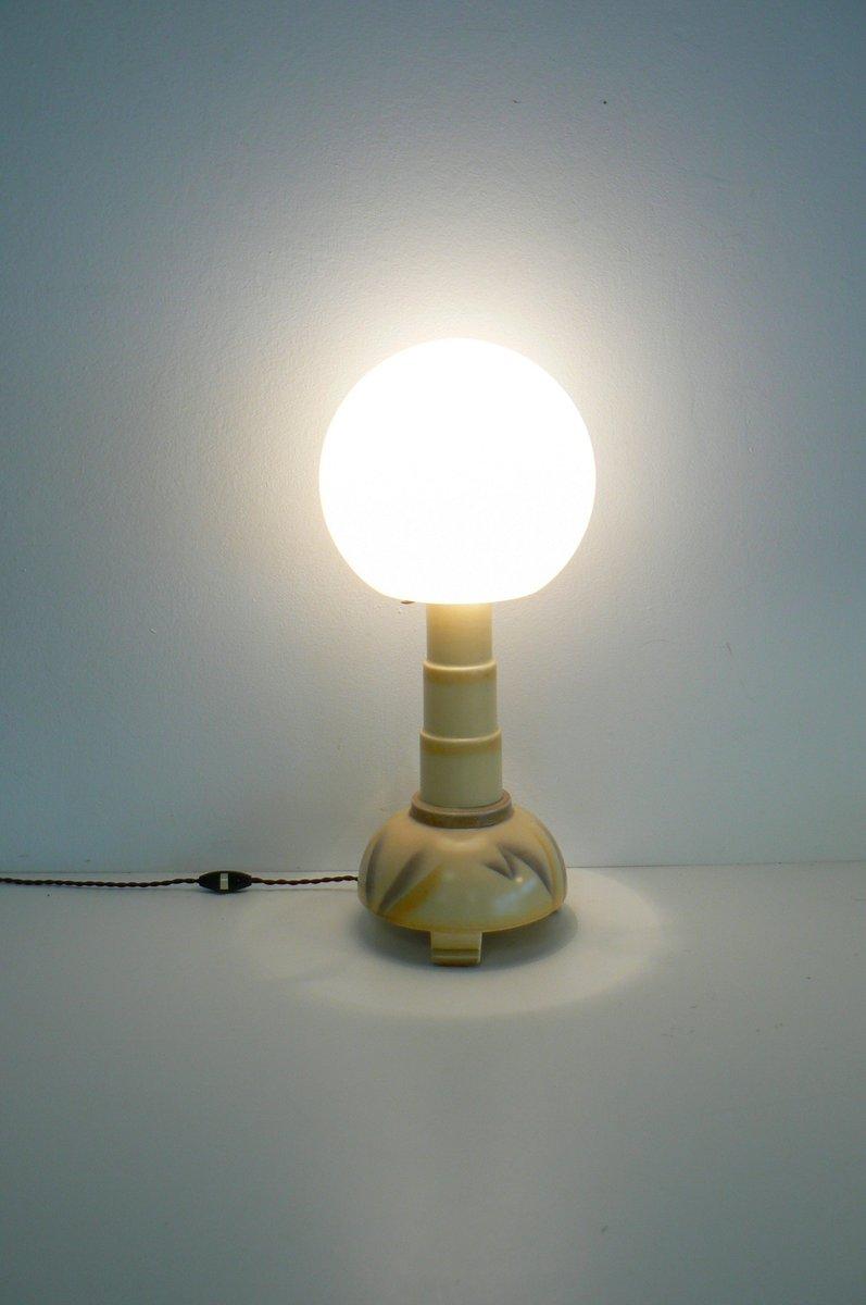 lampe de bureau art d co en c ramique 1920s en vente sur pamono. Black Bedroom Furniture Sets. Home Design Ideas