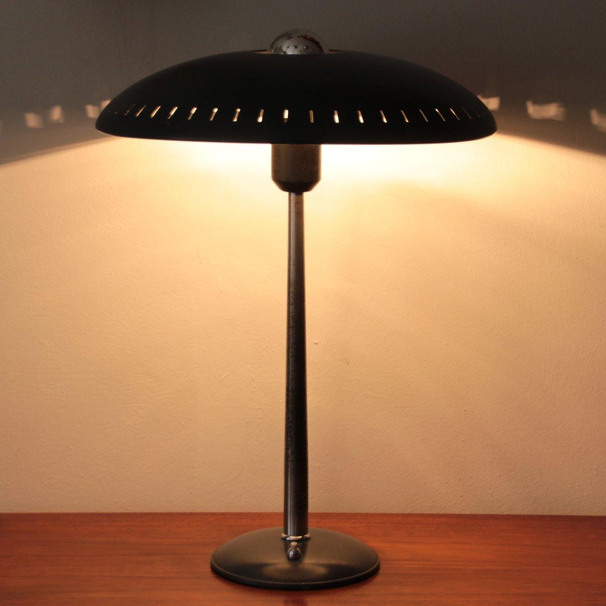 lampe de bureau noire par louis kalff pour philips 1950s en vente sur pamono. Black Bedroom Furniture Sets. Home Design Ideas