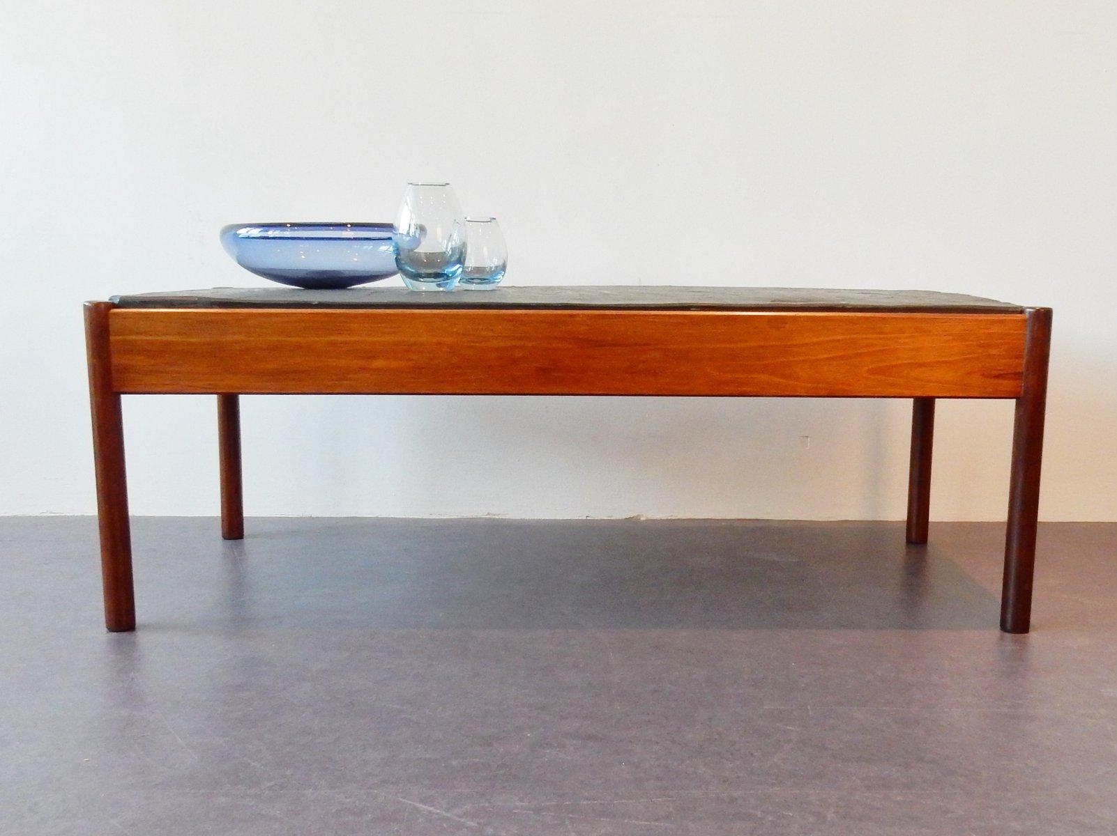 table basse vintage avec plateau en pierre en vente sur pamono. Black Bedroom Furniture Sets. Home Design Ideas