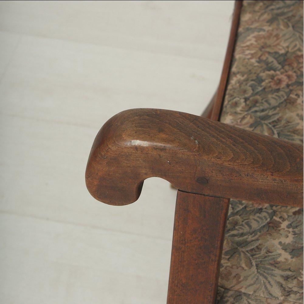 fauteuil vintage avec dossier inclinable 1920s en vente sur pamono. Black Bedroom Furniture Sets. Home Design Ideas