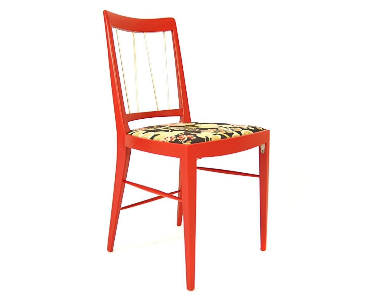 Sedia da pranzo rossa di oswald haerdtl per thonet 1953 in vendita su pamono - Sedia da pranzo ...