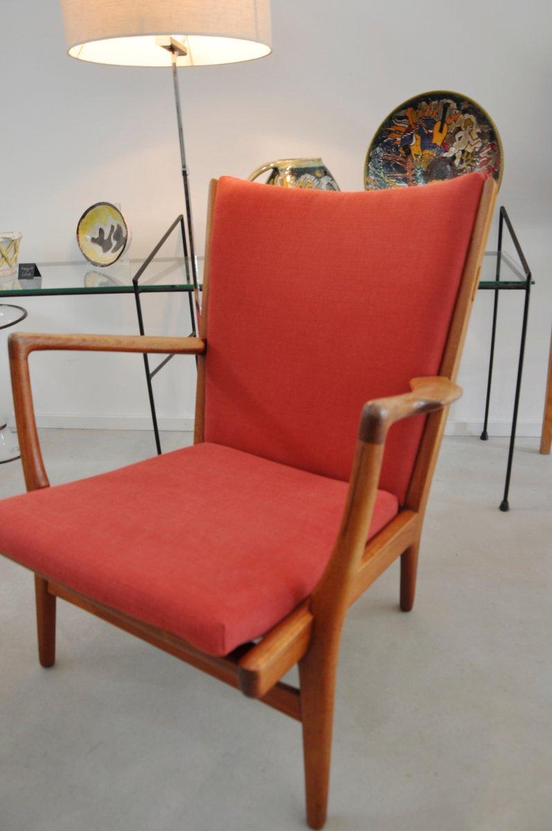 Red Ap 15 Armchair By Hans J Wegner For Ap Stolen 1950s