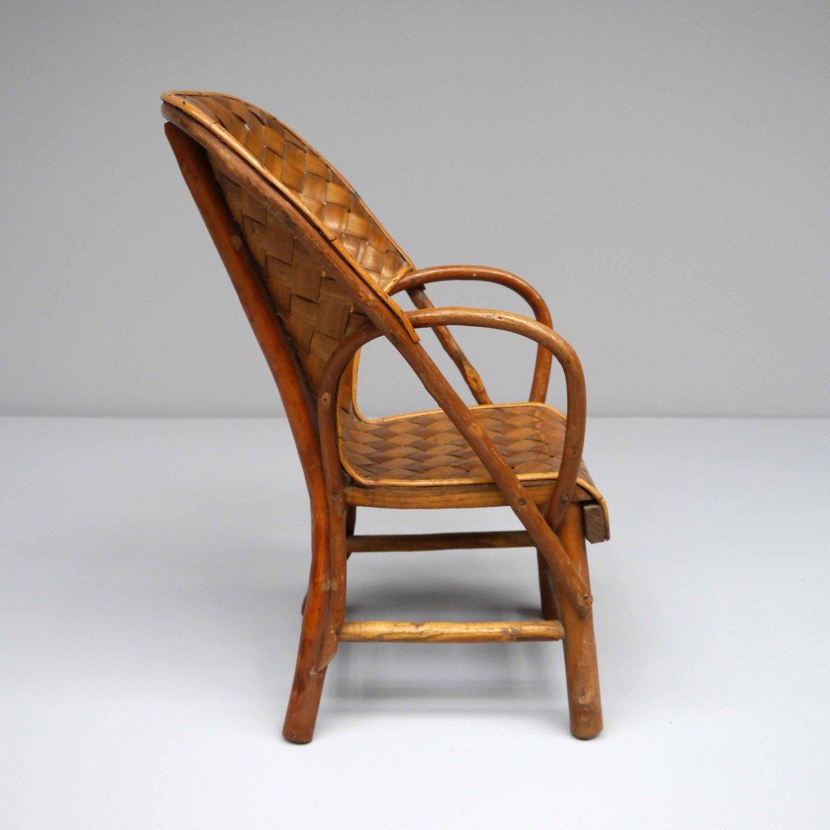 Sedia da bambino in legno di castagno francia anni 39 70 for Sedia design anni 70