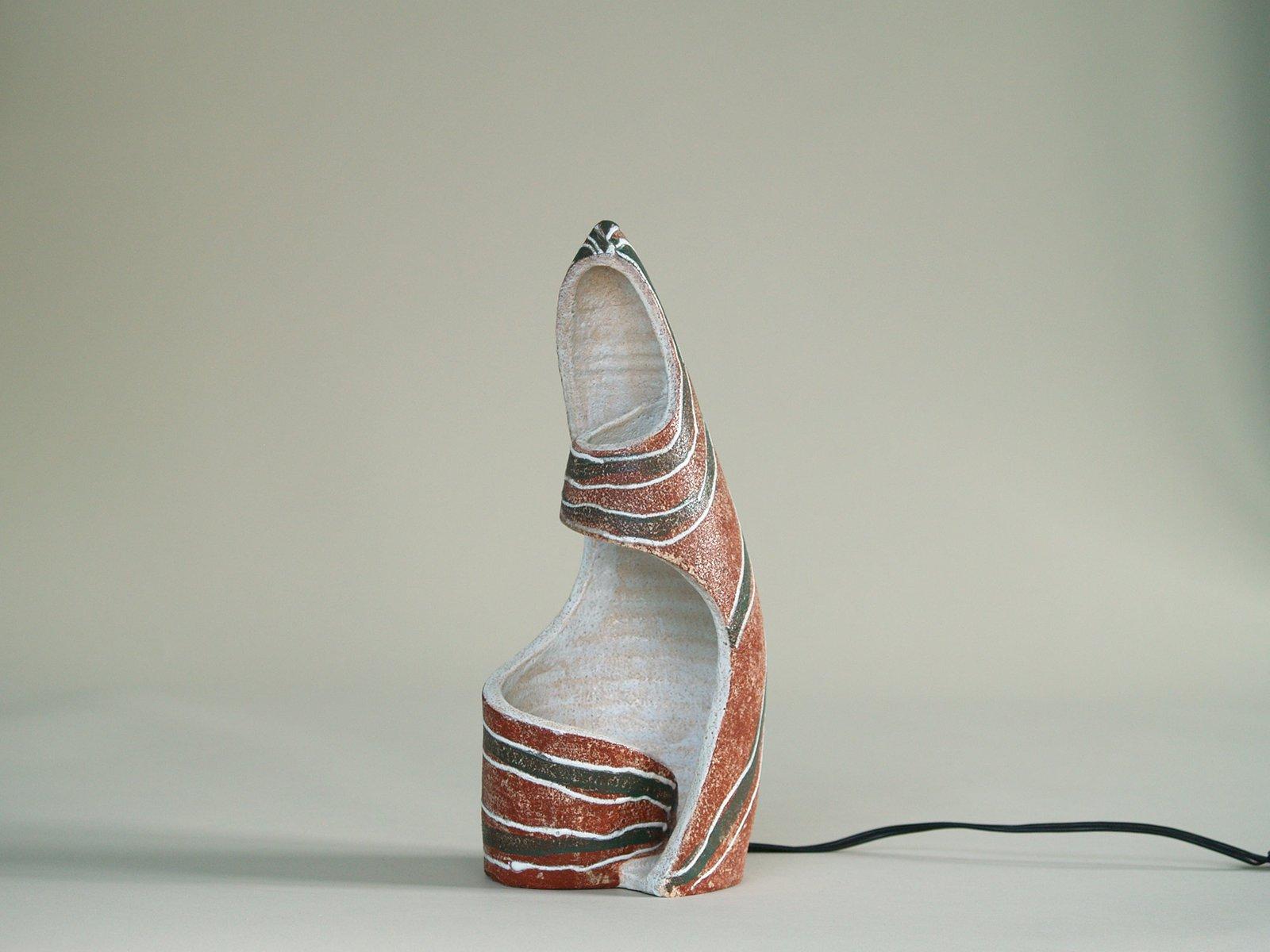 Skulpturelle Lampe von Poterie d´Accolay, 1950er