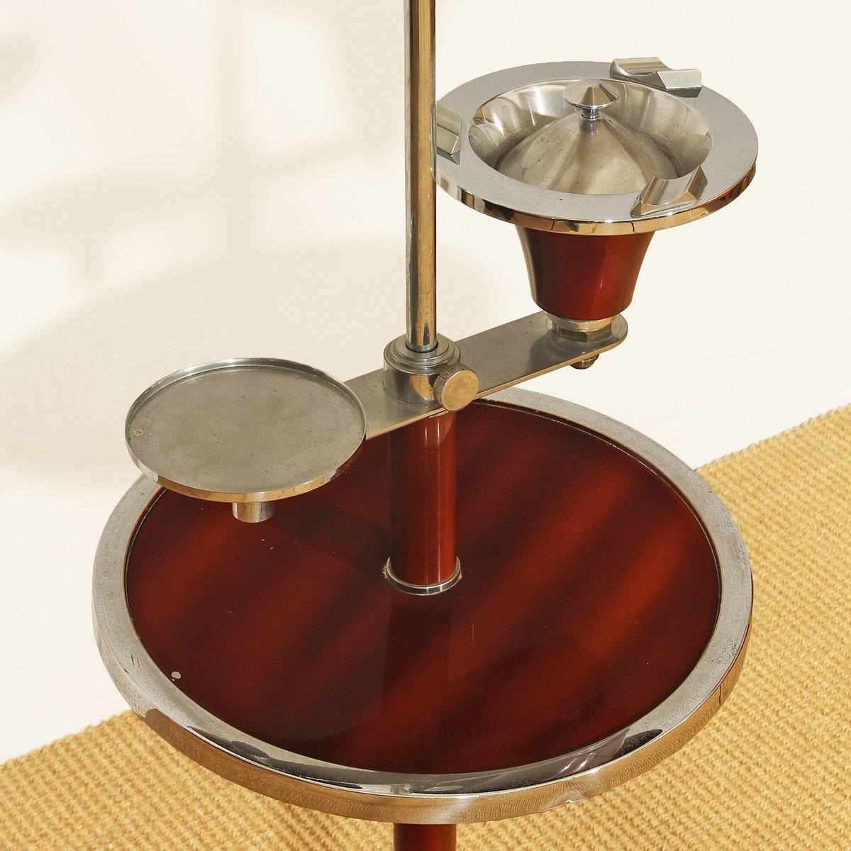 franz sische art deco stehlampe mit aschenbecher 1930er bei pamono kaufen. Black Bedroom Furniture Sets. Home Design Ideas