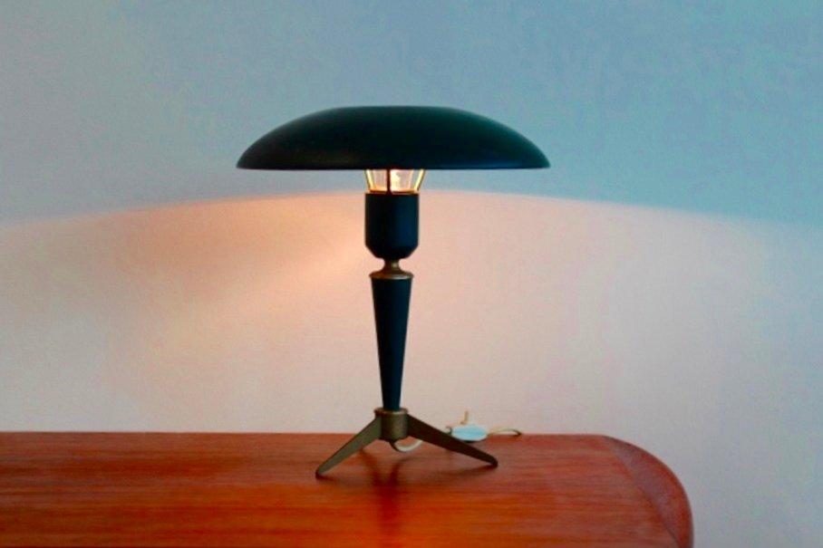 Tischlampe aus Messing von Louis Kalff für Philips, 1950er