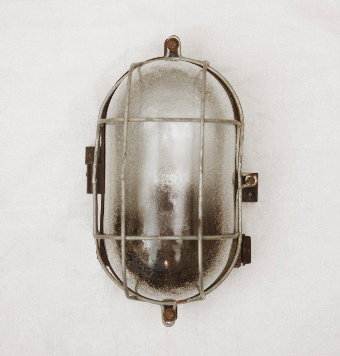 Industrielle Bakelit Wandlampe, 1948