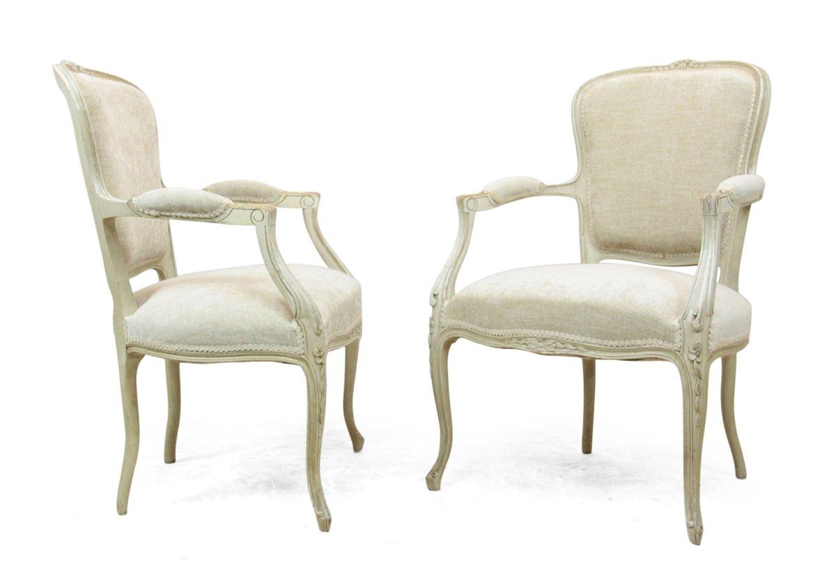 Sedie antiche Luigi XV, XX secolo, set di 2 in vendita su Pamono