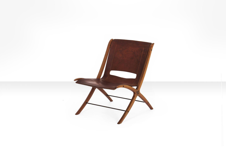 Cognacfarbener Modell X Leder Stuhl von Peter Hvidt & Orla Mølgaard-Ni...