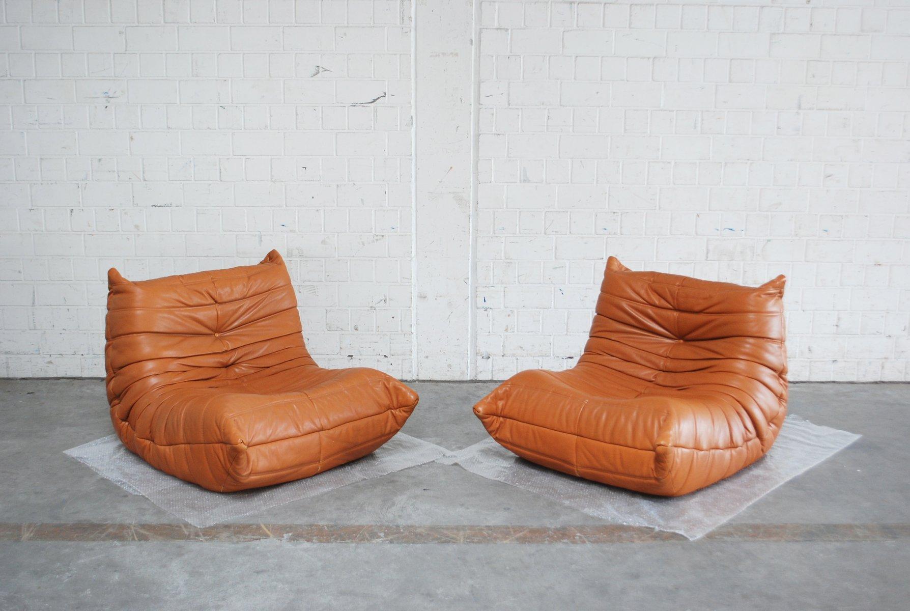 togo sessel aus kastanienbraunem leder von michel ducaroy f r ligne roset 1980er bei pamono kaufen. Black Bedroom Furniture Sets. Home Design Ideas