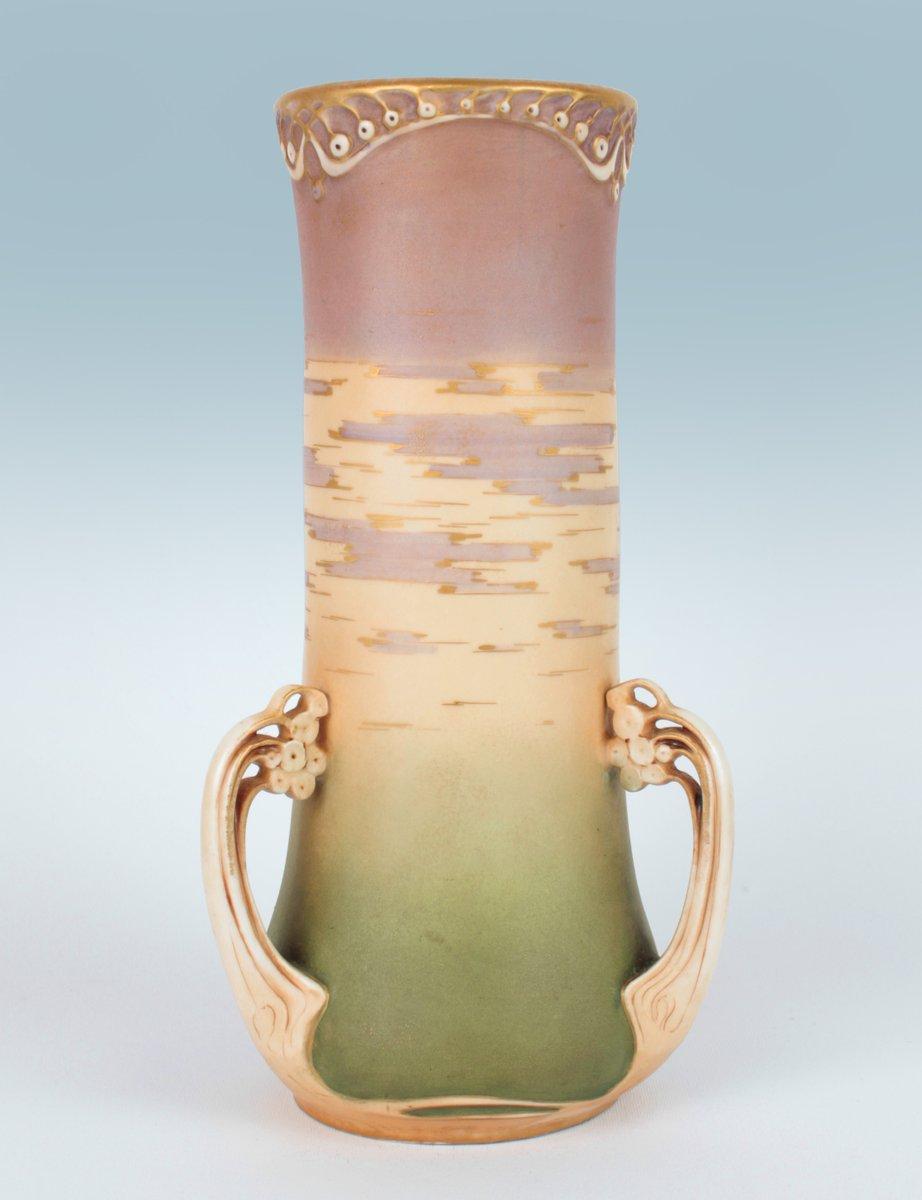 Jugendstil Vase von Paul Dachsel für RSt&K Amphora