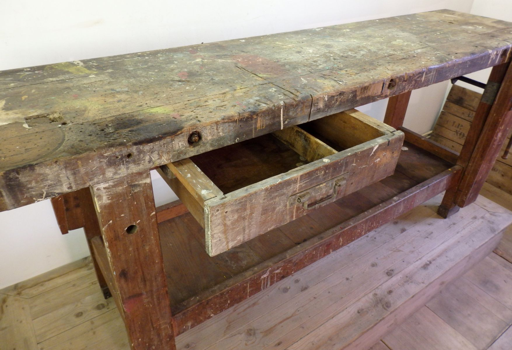 Tavoli Da Lavoro Vintage : Tavolo da lavoro vintage francia in vendita su pamono