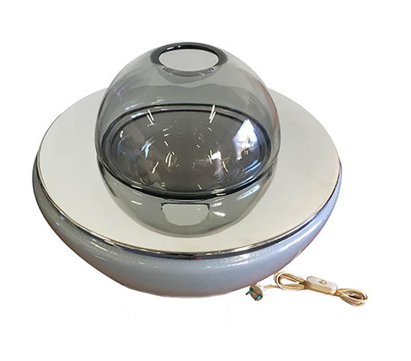 Vintage Blumentopf Lampe für Mazzega