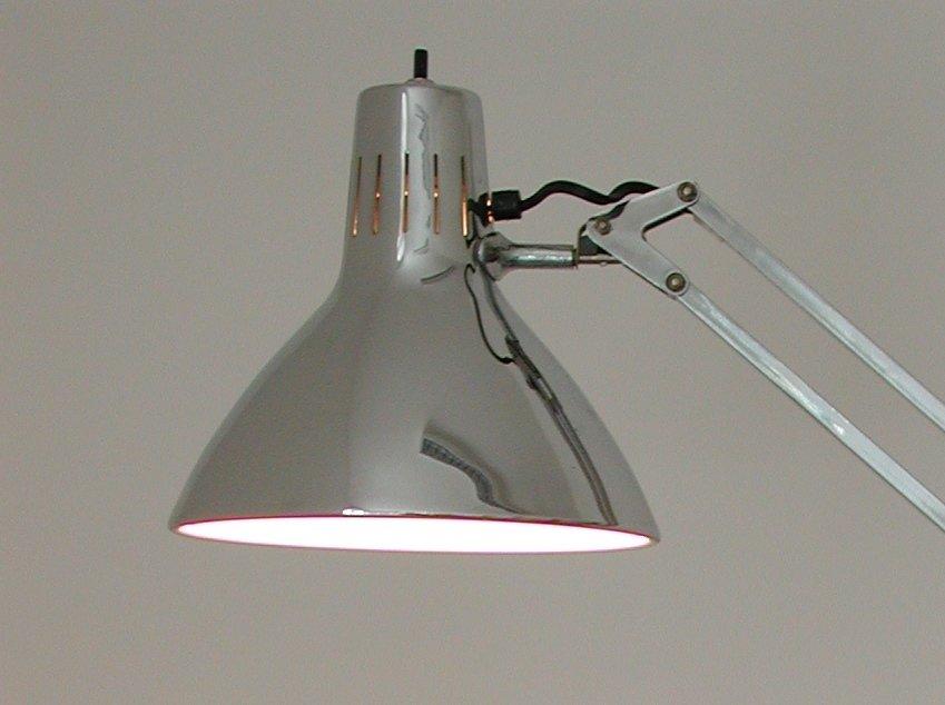 Große Luxo L-1 Chrom Federarm Lampe von Jacob Jacobsen für Naska Loris...
