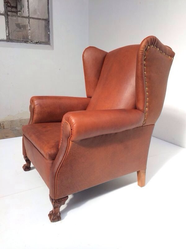 price per piece - Leather Wingback Chair