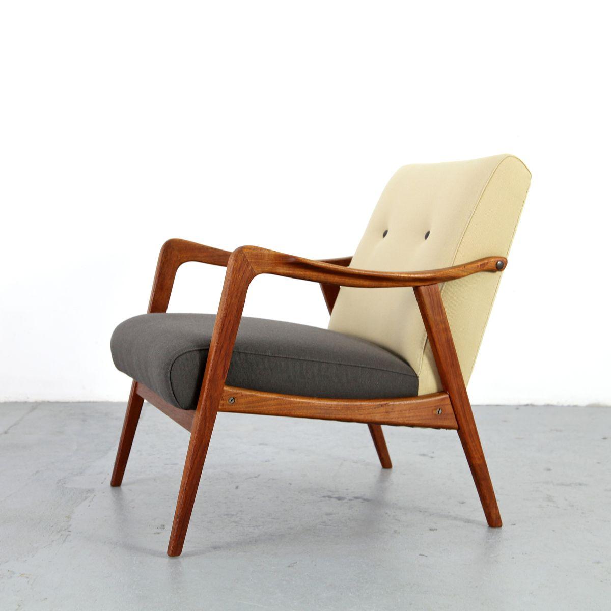 Mid-Century Teak Armchair For Sale At Pamono