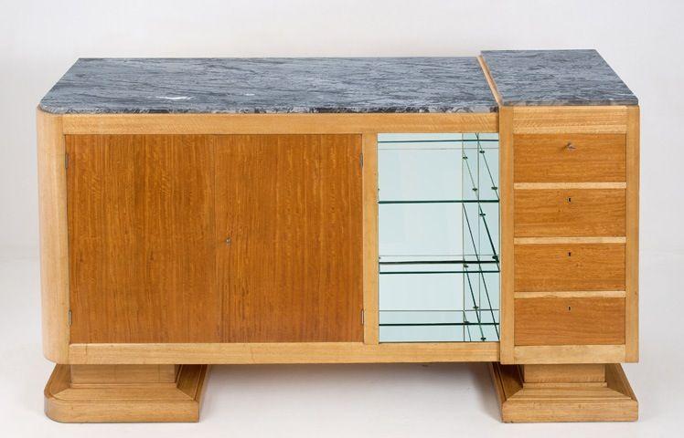 Französisches Sideboard mit Marmorplatte