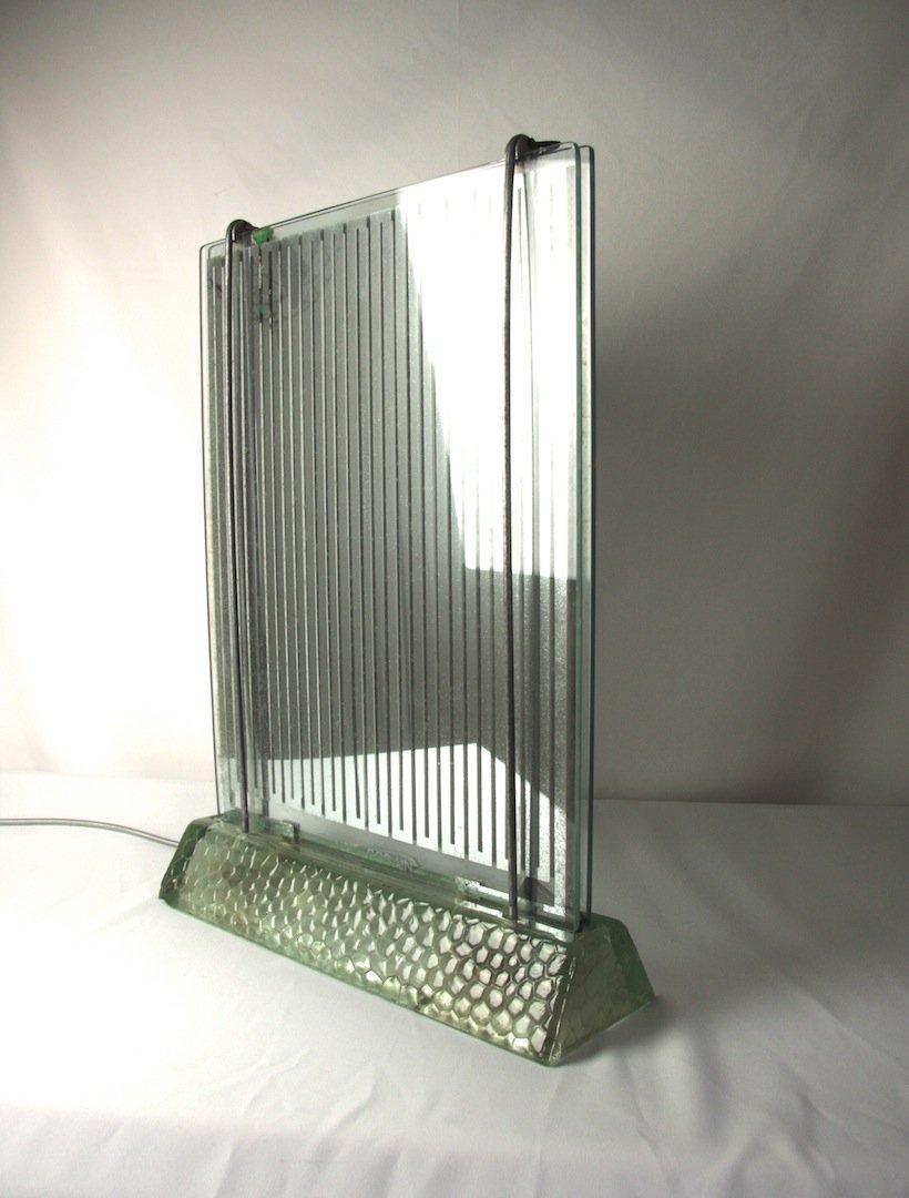 Radiaver Lampe von René Coulon für Saint Gobain, 1937