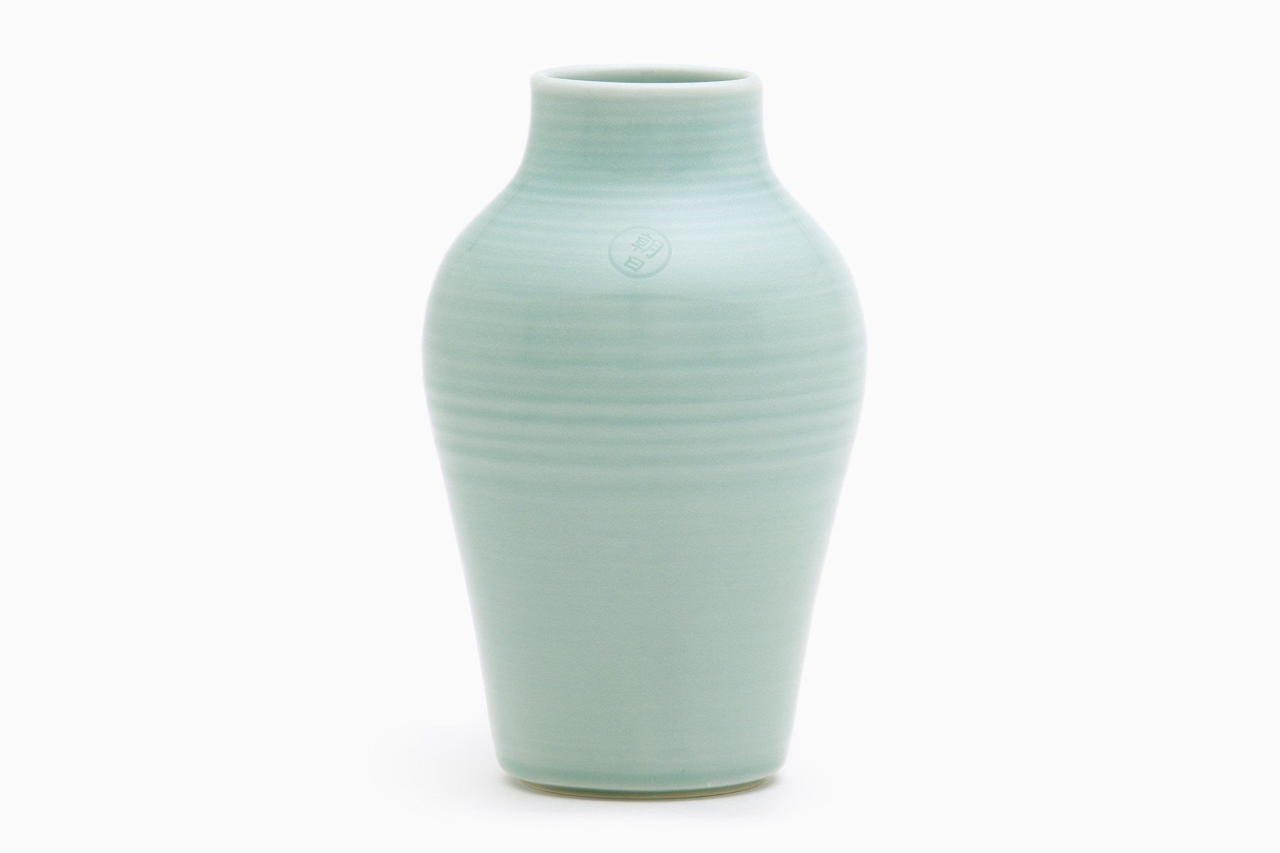 Hohe Vase In Aquamarin Von Asahiyaki Bei Pamono Kaufen