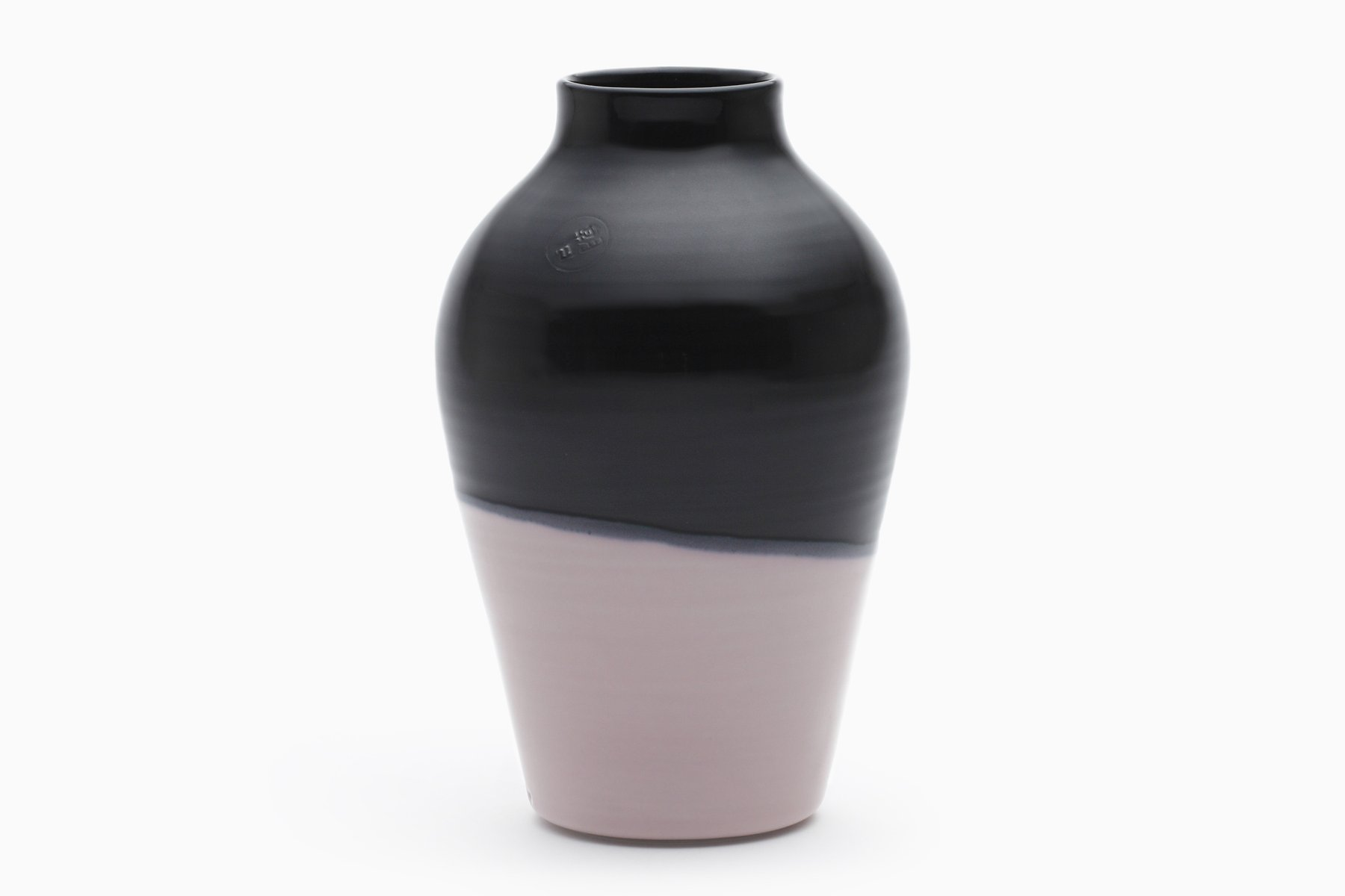 grand vase rose sakura et noir par asahiyaki en vente sur pamono. Black Bedroom Furniture Sets. Home Design Ideas