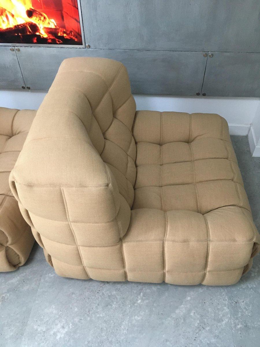 vintage kashima sessel fu hocker von michel ducaroy f r. Black Bedroom Furniture Sets. Home Design Ideas