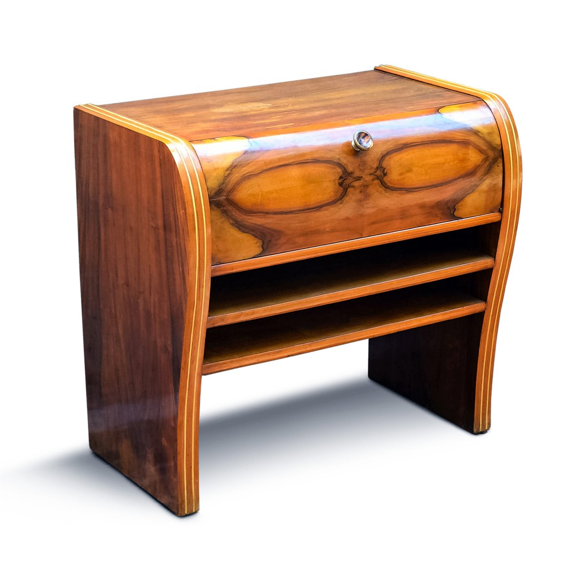 Italienischer art deco schrank aus nussholz buchenholz for Schrank italienischer stil