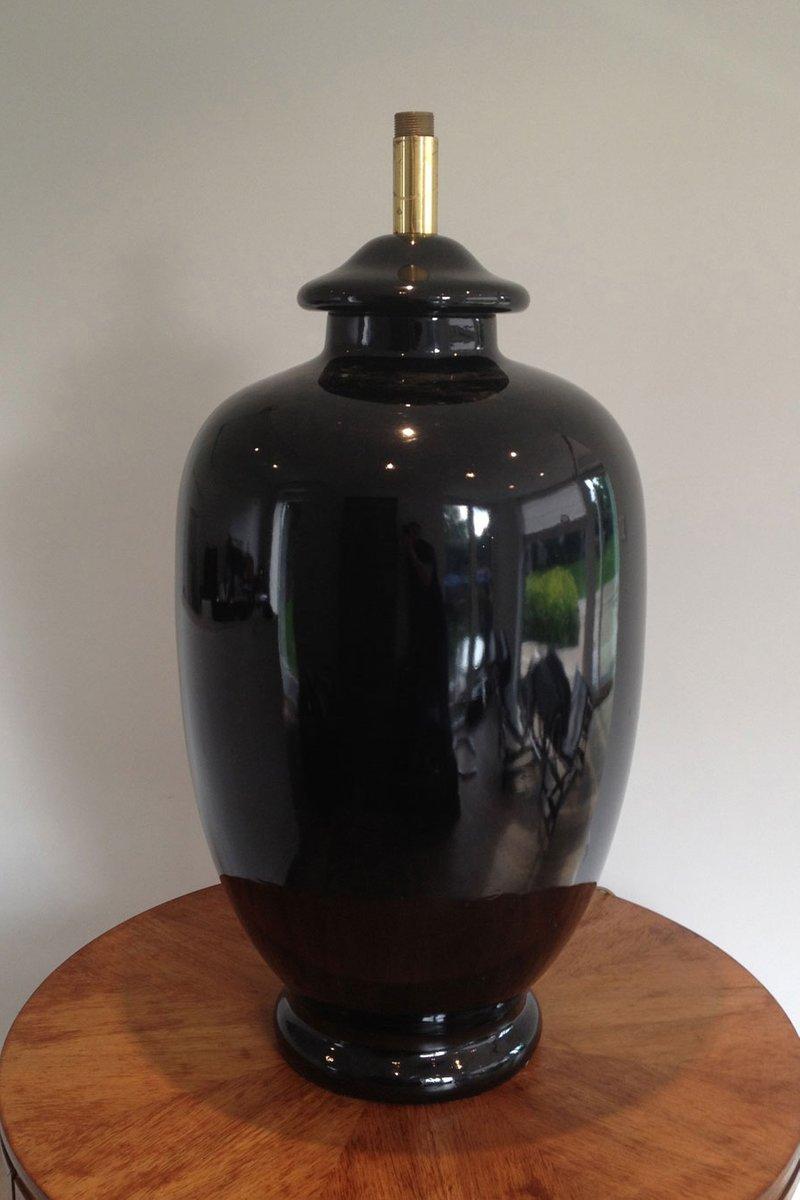 Große Vintage Keramik Lampe