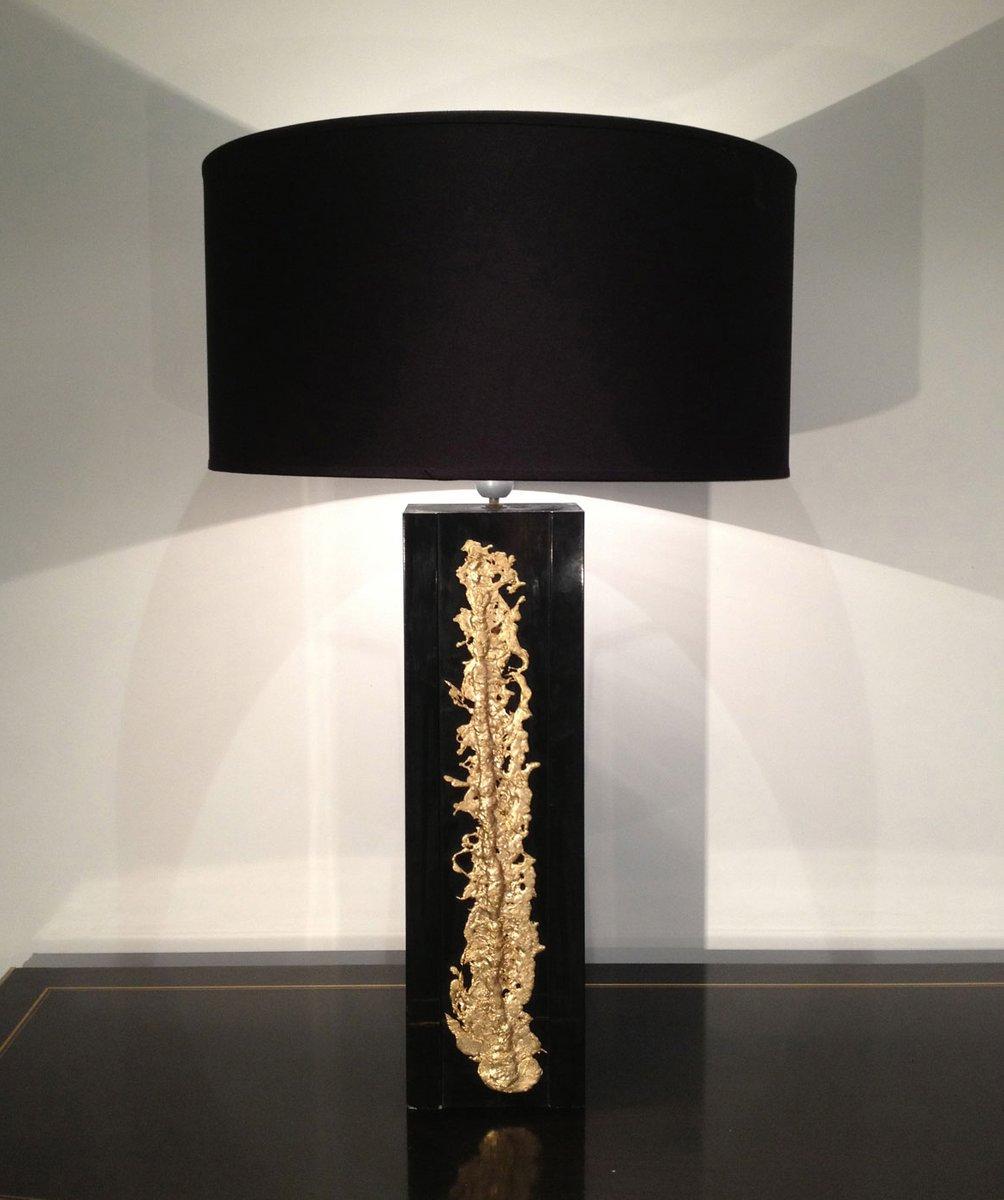 Vintage Schwarz Lackierte Lampe