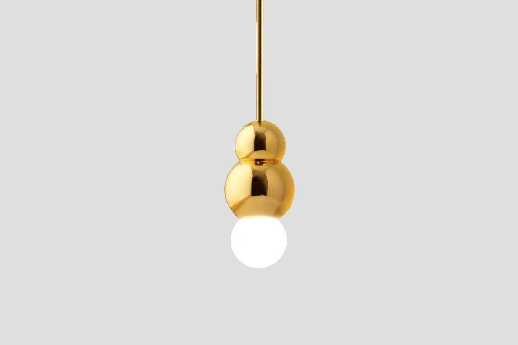 Brass Ball Light (Small) by Michael Anastassiades