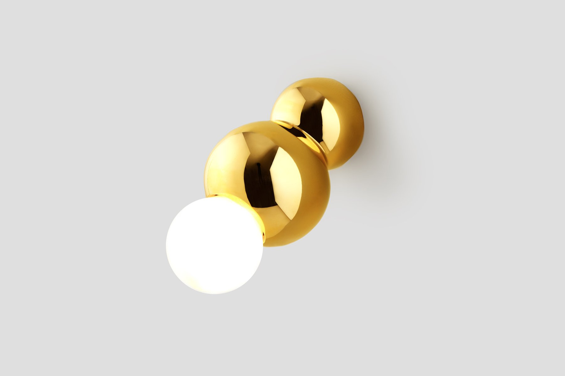 Wandmontierte Ball Light Lampe aus Messing von Michael Anastassiades