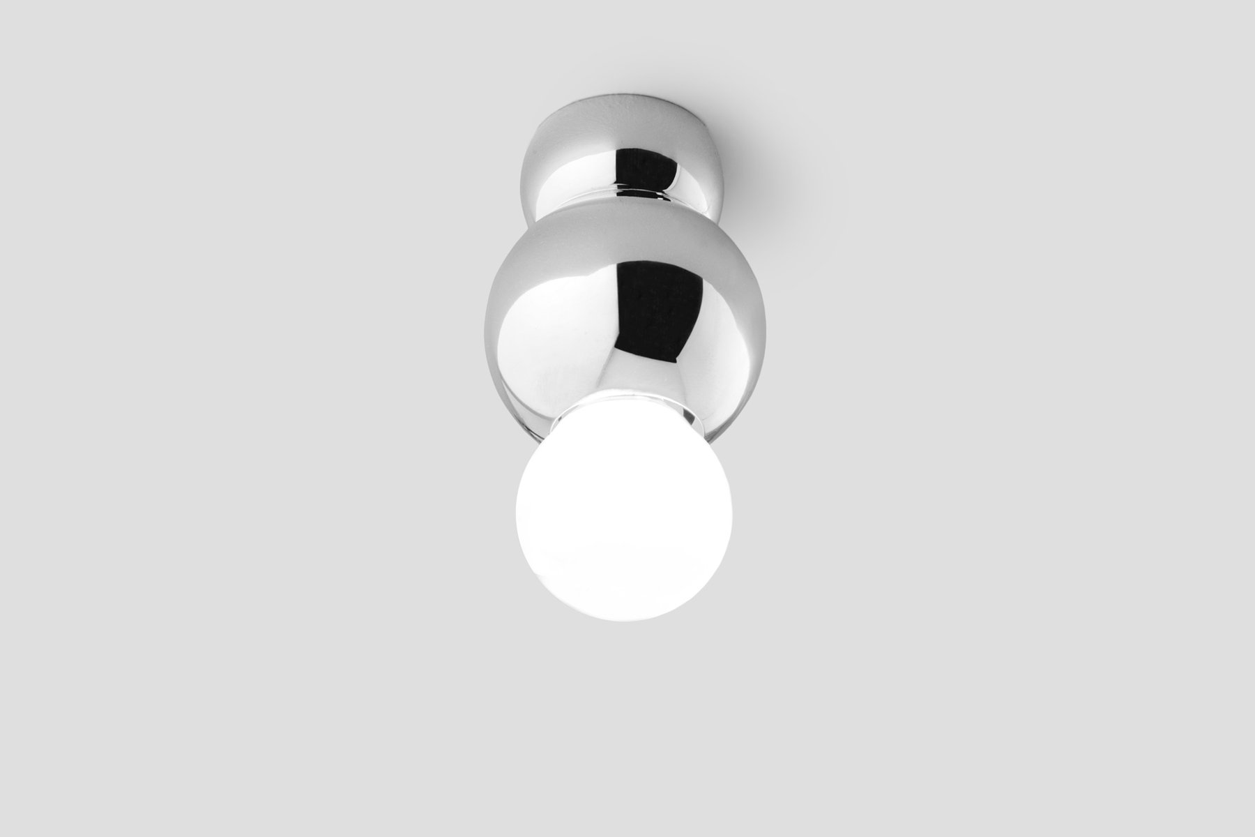 Silver Ceiling-Mounted Ball Light by Michael Anastassiades