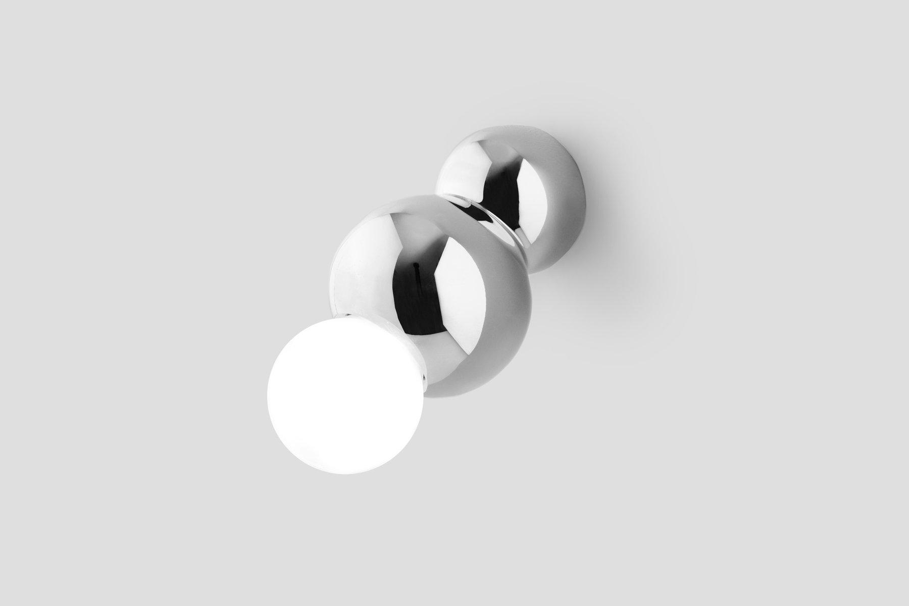 Silberne Wandmontierte Kugellampe von Michael Anastassiades