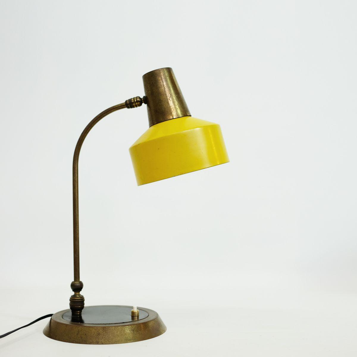 Große Französische Messing & Bakelit Tischlampe, 1960er