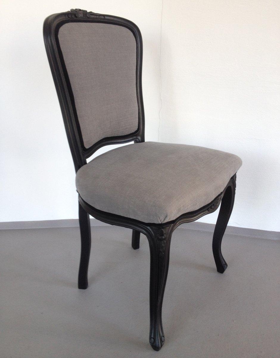 chaise n o baroque noire grise en vente sur pamono. Black Bedroom Furniture Sets. Home Design Ideas