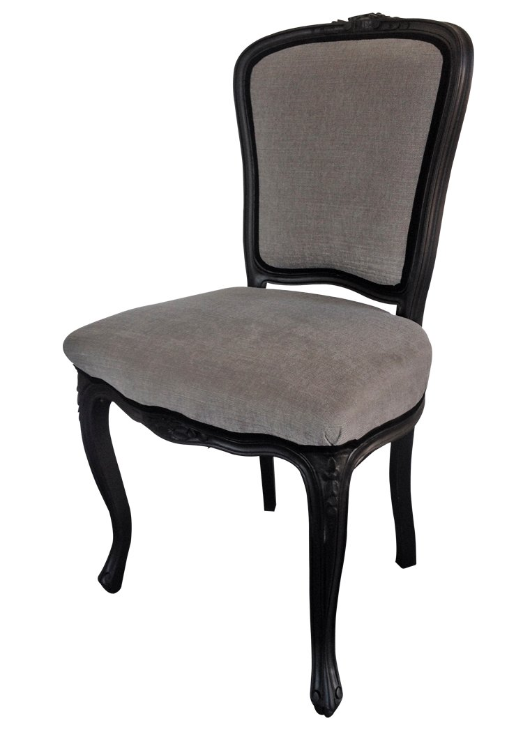 black grey neo baroque chair for sale at pamono. Black Bedroom Furniture Sets. Home Design Ideas