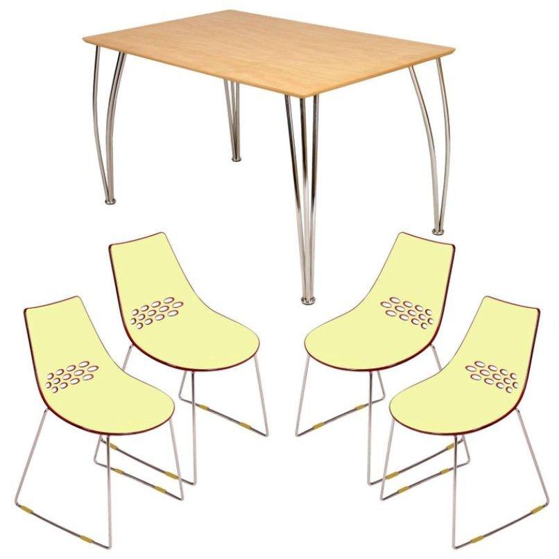 Italienisches Set im modernen Stil mit Tisch von Piero Lissoni & 4 Con...
