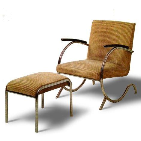 Sessel mit Fußhocker von Paul Schuitema, 1930er