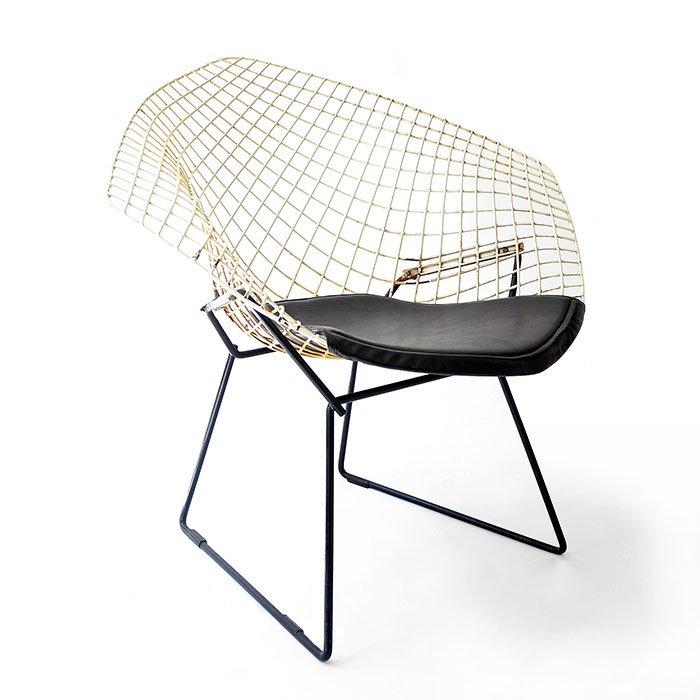 chaise diamond mod le 421 par harry bertoia 1950s en vente sur pamono. Black Bedroom Furniture Sets. Home Design Ideas