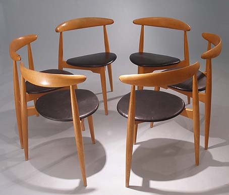 Exceptionnel Heart Chair Dining Set By Hans J. Wegner 3. $7,440.00. Price Per Set