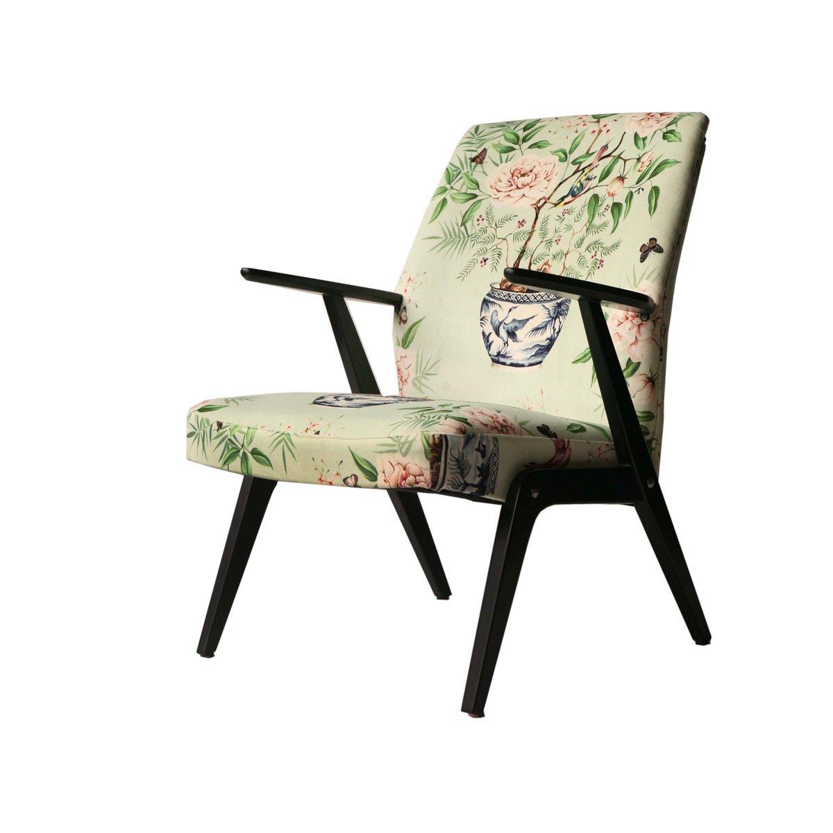 Roter Sessel aus Samt von Bengt Ruda