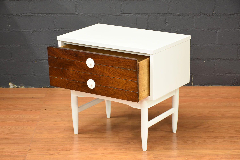 tables de chevet mid century modernes set de 2 en vente sur pamono. Black Bedroom Furniture Sets. Home Design Ideas