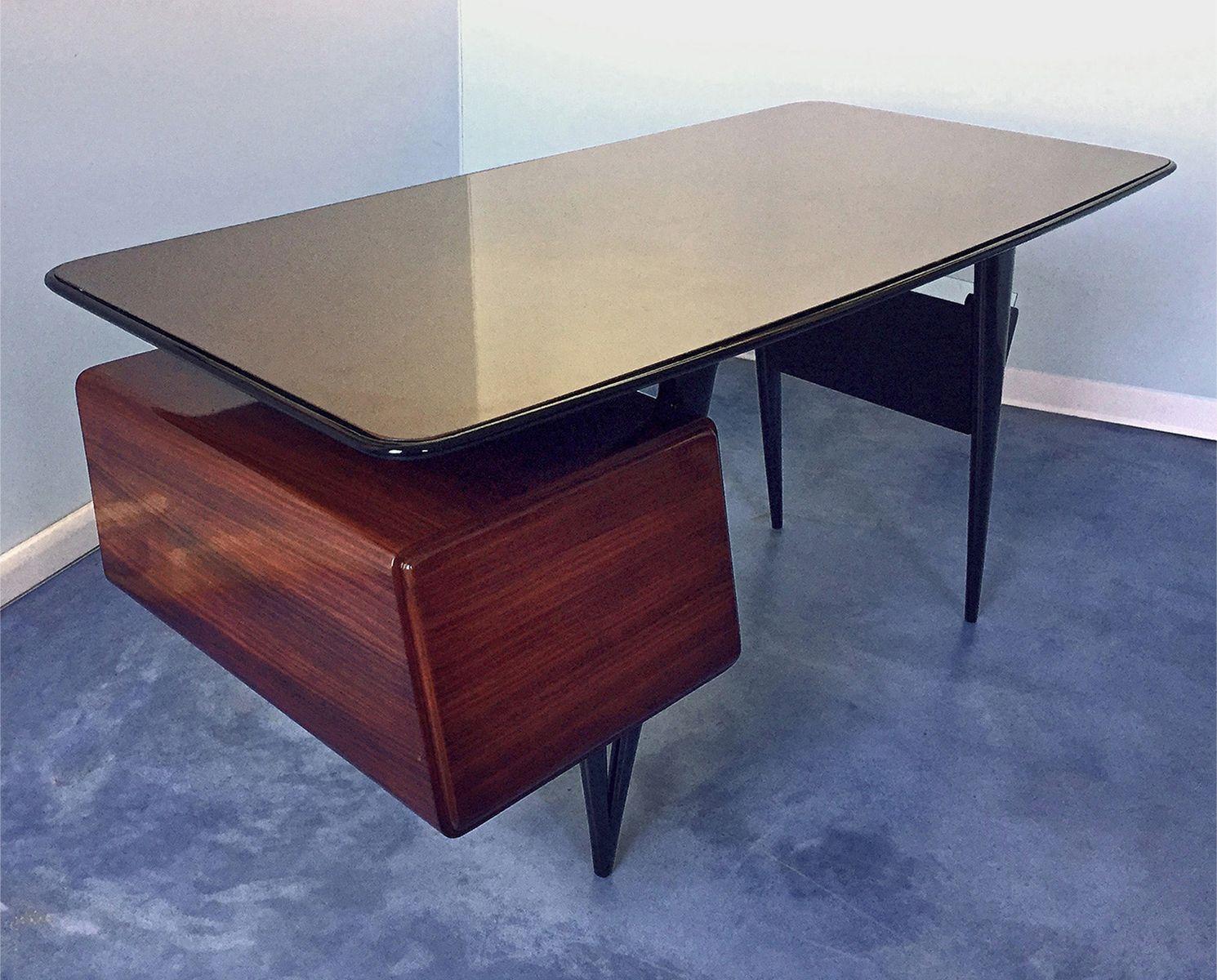 schreibtisch mit stuhl von silvio cavatorta 1950er bei pamono kaufen. Black Bedroom Furniture Sets. Home Design Ideas