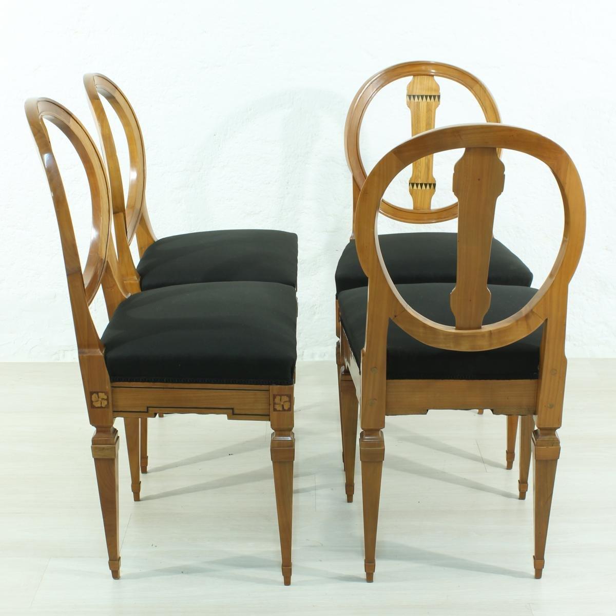 louis xvi st hle 1790er 4er set bei pamono kaufen. Black Bedroom Furniture Sets. Home Design Ideas
