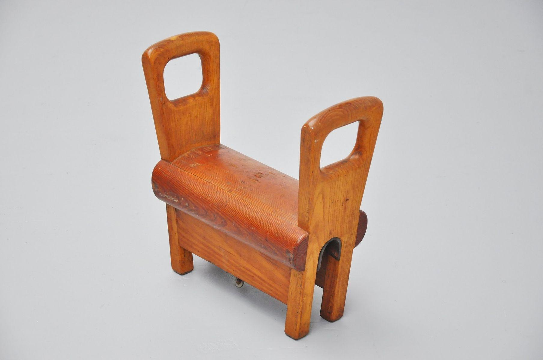 Vintage Holz Sprungbock aus Holland, 1950er