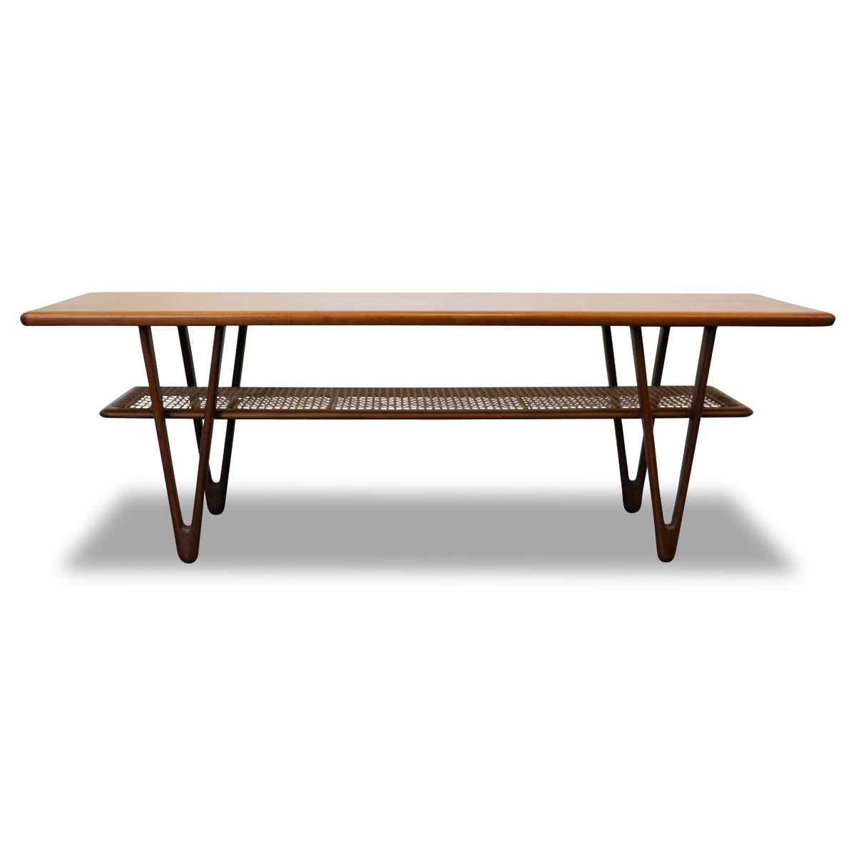 Mid Century Two Tone Coffee Table By Weiman: Mid-Century Modern Danish Teak Coffee Table, 1950s For