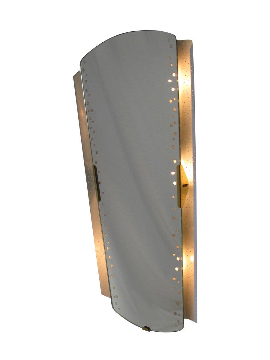 beleuchteter spiegel von ernest igl f r hilleband leuchten 1950er bei pamono kaufen. Black Bedroom Furniture Sets. Home Design Ideas